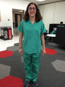 First day in scrubs